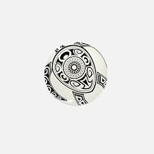 Black Hawaiian Turtle-2 Mini Button