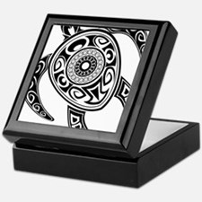 Black Hawaiian Turtle-2 Keepsake Box