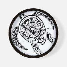 Black Hawaiian Turtle-2 Wall Clock
