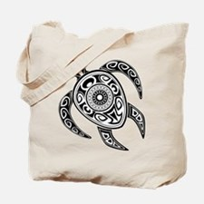 Black Hawaiian Turtle-2 Tote Bag