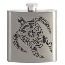 Black Hawaiian Turtle-2 Flask