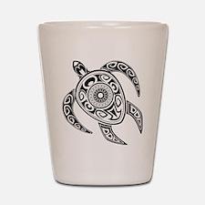 Black Hawaiian Turtle-2 Shot Glass