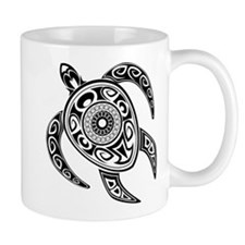 Black Hawaiian Turtle-2 Mugs