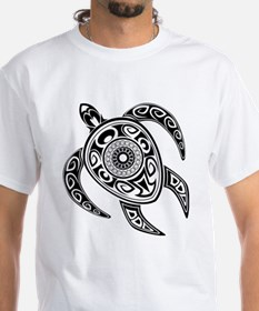 Black Hawaiian Turtle-2 T-Shirt
