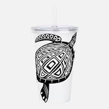 Black Hawaiian Turtle Acrylic Double-wall Tumbler
