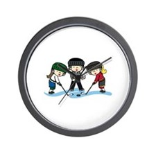 Hockey Girls Wall Clock