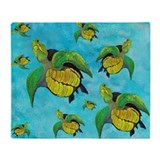 Sea turtle fleece blanket Blankets