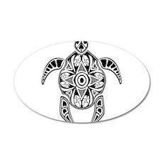 Black Hawaiian Turtle-4 Wall Decal