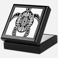 Black Hawaiian Turtle-4 Keepsake Box