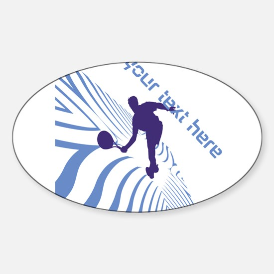 Tennis Fan Blue Sticker (Oval)