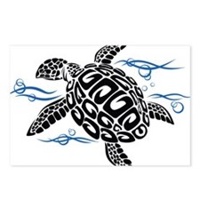 Swimming Black Turtle Postcards (Package of 8)