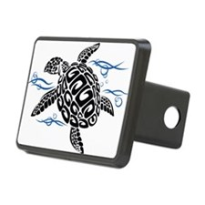 Swimming Black Turtle Hitch Cover