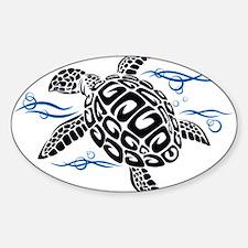 Swimming Black Turtle Bumper Stickers
