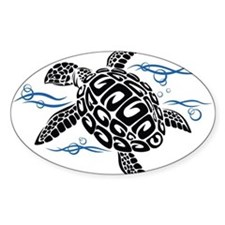 Swimming Black Turtle Decal
