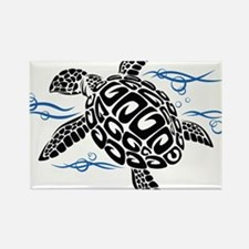 Swimming Black Turtle Magnets