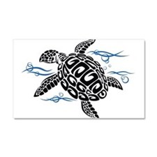 Swimming Black Turtle Car Magnet 20 x 12
