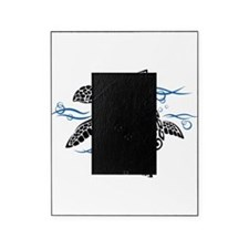 Swimming Black Turtle Picture Frame