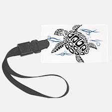 Swimming Black Turtle Luggage Tag