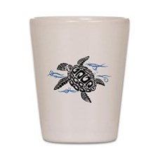 Swimming Black Turtle Shot Glass