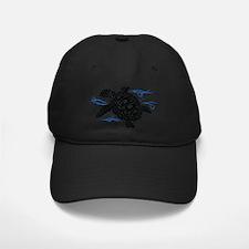 Swimming Black Turtle Baseball Hat