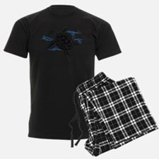 Swimming Black Turtle Pajamas