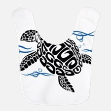 Swimming Black Turtle Bib