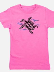 Swimming Black Turtle Girl's Tee