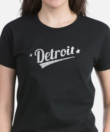 Distressed Retro Detroit Logo T-Shirt