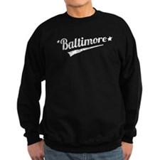 Distressed Retro Baltimore Logo Sweatshirt