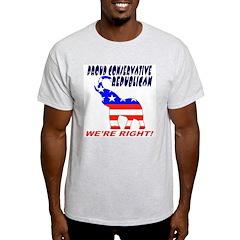 Proud Conservative Republican Ash Grey T-Shirt