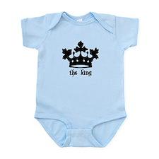 Medieval King Black Crown Infant Bodysuit