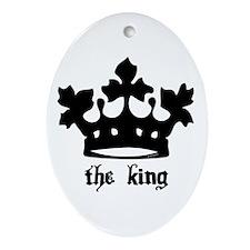 Medieval King Black Crown Oval Ornament