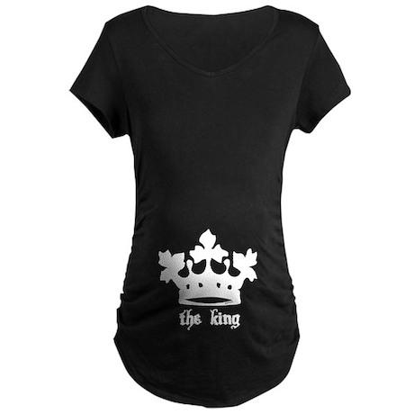 Medieval King Black Crown Maternity Dark T-Shirt
