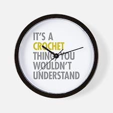Its A Crochet Thing Wall Clock