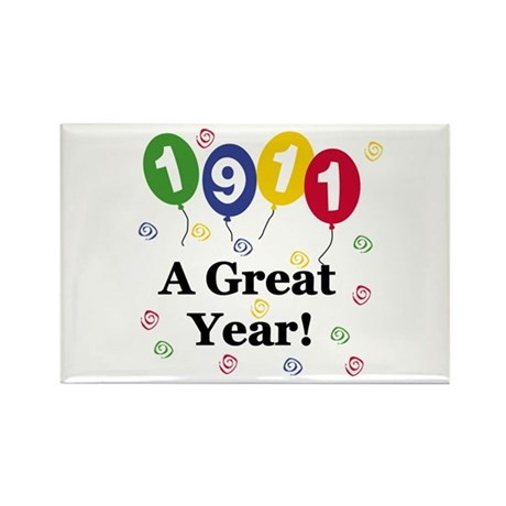 1911 A Great Year Rectangle Magnet (10 pack)