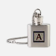 Monogram A Flask Necklace