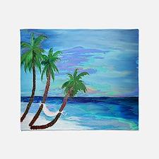 Hammock Beach Palms Throw Blanket