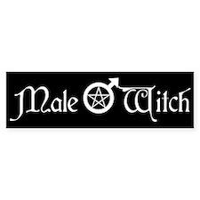 Male Witch Bumper Bumper Sticker