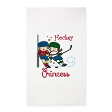 Hockey Princess 3'x5' Area Rug