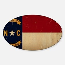 North Carolina State Flag VINTAGE Decal