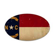 North Carolina State Flag VINTAGE Wall Decal