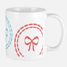 Sweet Bow,Hoops Pattern Pastel Mugs
