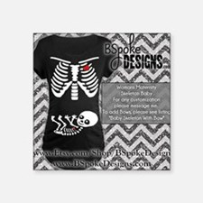 "Skeleton Baby Square Sticker 3"" x 3"""