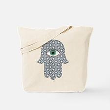 Cute Jewish hamsa Tote Bag