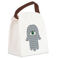 Cute Jewish hamsa Canvas Lunch Bag
