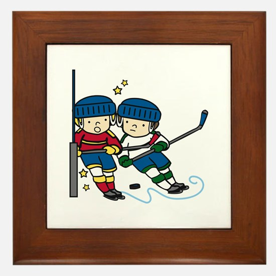 Hockey Boys Framed Tile