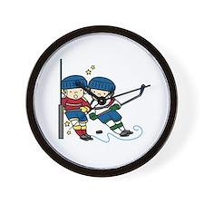 Hockey Boys Wall Clock