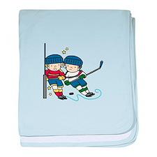 Hockey Boys baby blanket