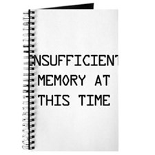 Insufficient memory at this time Journal