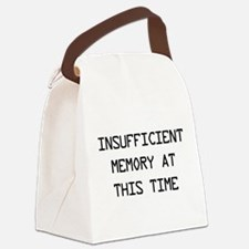 Insufficient memory at this time Canvas Lunch Bag